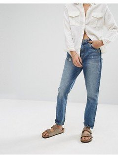 Lovers  Friends High Rise Slim Mom Jeans - Blue