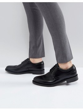 ALDO Branton Leather Brogue Shoes In Black - Black