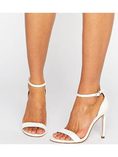 ASOS HANG TIME Barely There Heeled Sandals - White