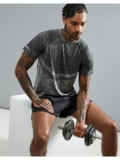Threadbare Active Crew Neck Gym T-Shirt - Grey