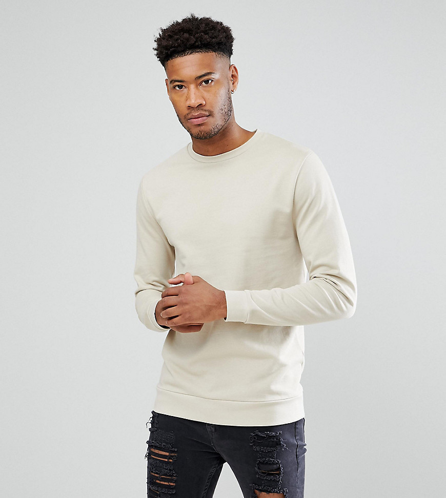 ASOS TALL Sweatshirt In Beige - Beige