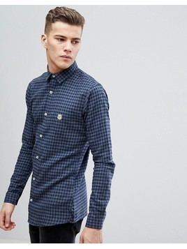 Le Breve Check Shirt - Blue