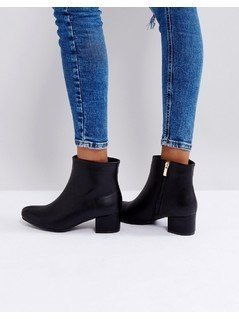 Truffle Collection Mid Heel Boot - Black