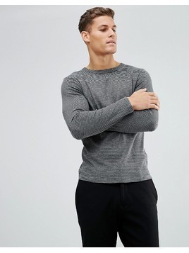 Selected Homme Long Sleeve Top With Stripes - Navy
