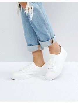 New Look Lace Up Trainer - White