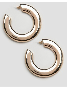 New Look Wide Hoop Earrings - Gold