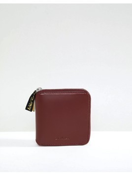 Dr Martens Zip Wallet in Leather - Red