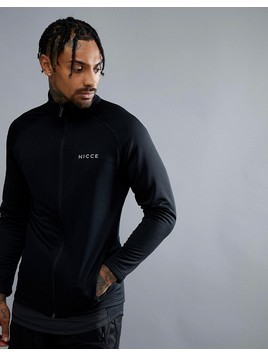 Nicce London Sport Track Jacket In Black - Black