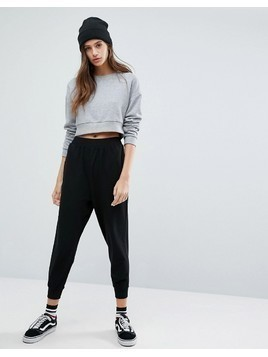 ASOS Basic Drop Crotch Joggers - Black