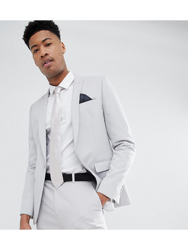 ASOS DESIGN Tall skinny suit jacket in putty grey - Grey