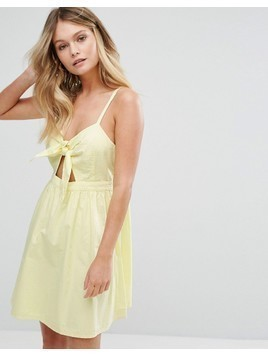 New Look Bow Detail Sundress - Yellow