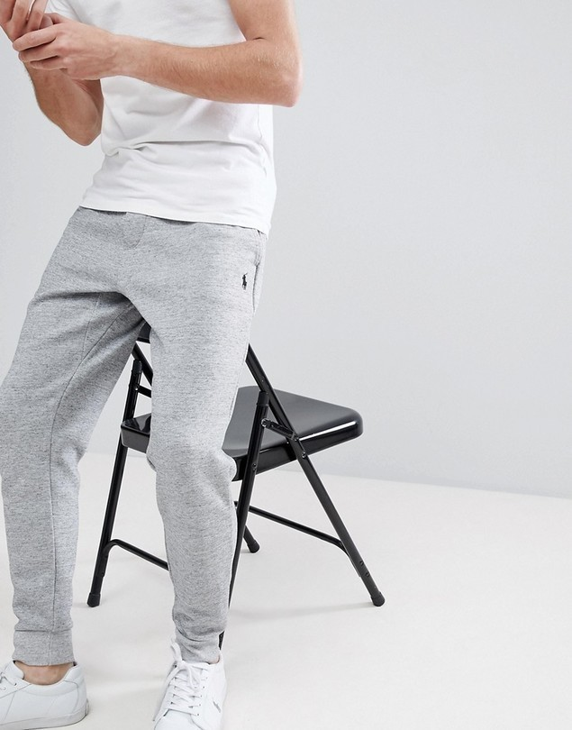 Polo Ralph Lauren Slim Fit Cuffed Jogger in Grey Marl - Grey