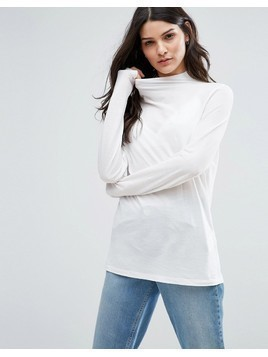 Selected Missy High Neck Jumper - White