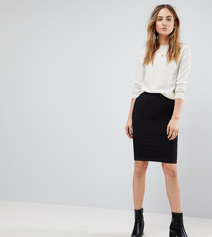 Y.A.S Tall Sesilie Stretch Skirt - Black