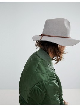 Brixton Wesley Fedora In Natural - Stone