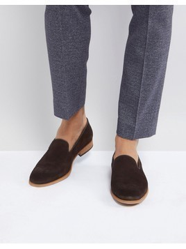 Zign Suede Smart Loafer In Brown - Brown