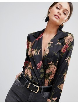 Parisian Floral Print Body - Black