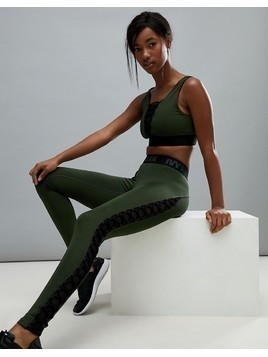 Ivy Park Active Lace Up Leggings In Khaki - Green