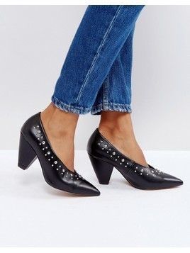 ASOS SMASHING Studded Pointed Heels - Black