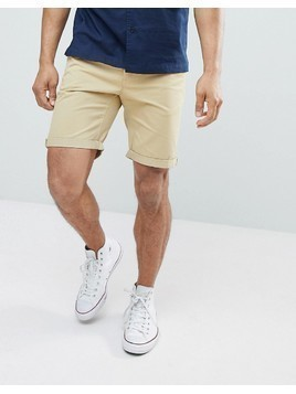 D-Struct Turn Up Chino Shorts - Green