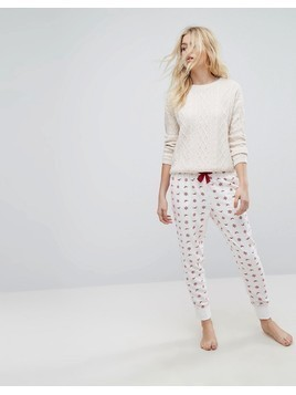 Hollister Logo Pyjama Bottoms - White