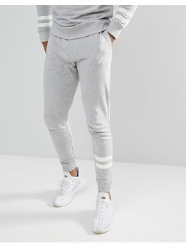 Only&Sons Joggers With Stripe Detail - Grey