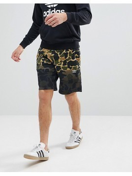 adidas Originals Camo Shorts In Green CE1546 - Green
