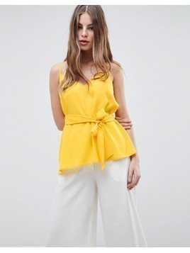 French Connection Strappy Cami Top - Yellow