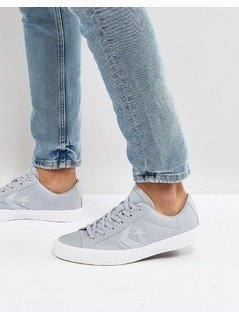 Converse Ox Star Player Plimsolls In Grey 157762C - Grey