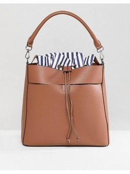 Pimkie Stripe Detail Slouch Bag - Tan
