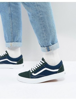 Vans Old Skool Trainers In Blue VA38G1QVN - Blue