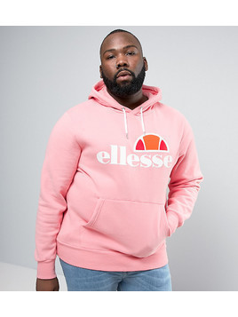 ellesse PLUS Hoodie With Classic Logo In Pink - Pink