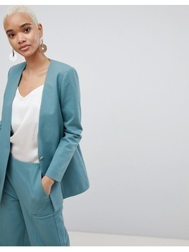 Selected 80'S Blazer With Gold Button - Green