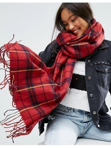 Monki Scarf - Red