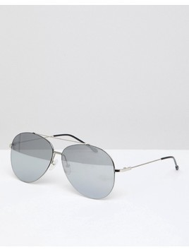 Jeepers Peepers Aviator Sunglasses In Silver - Gold