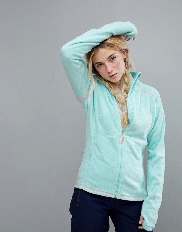 Roxy Harmony Full Zip Fleece In Blue - Blue