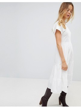 Vero Moda Tiered Dress - White