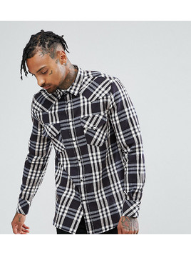 Diesel Heavy Overshirt Check - Navy