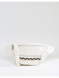 Pimkie Zip Front Bum Bag - Cream