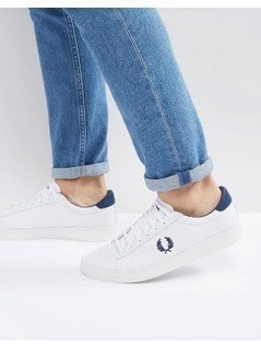 Fred Perry Spencer Mesh Trainers White - White