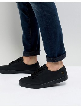 Farah Kiln Logo Trainers in Black - Black