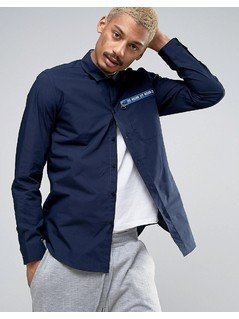 Love Moschino Zip Pocket Shirt - Navy