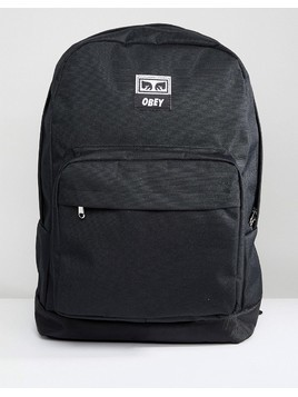 Obey Drop Out Juvee Backpack In Black - Black