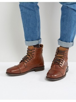 Levis Emmerson Leather Boots In Brown - Brown