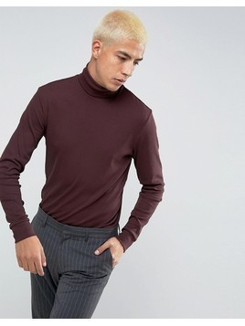 Weekday Tube Rib Turtleneck - Red
