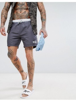 BOSS Star Fish Swim Shorts Exclusive - Grey