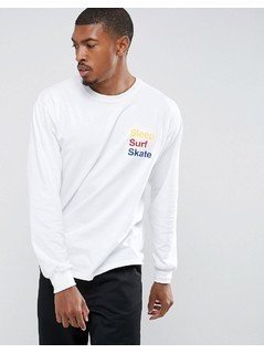 APN Sleep Surf Skate Long Sleeve T-Shirt T-Shirt - White