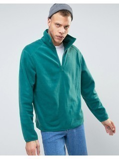 Weekday Bogdan Halfzip Sweater - Green