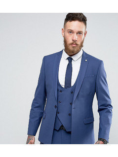 Noose&Monkey Super Skinny Suit Jacket - Blue