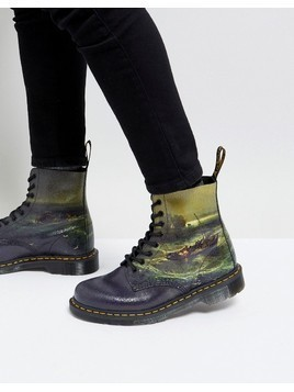 Dr Martens William Turner Fisherman 8-Eye Boots - Black